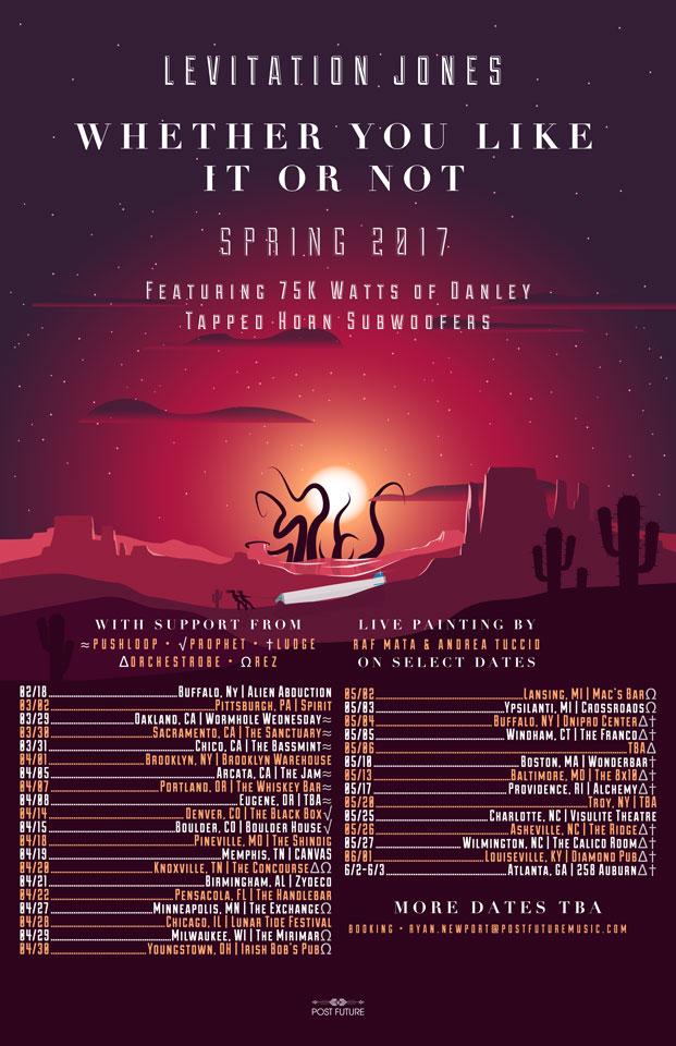 Levitation Jones Spring Tour