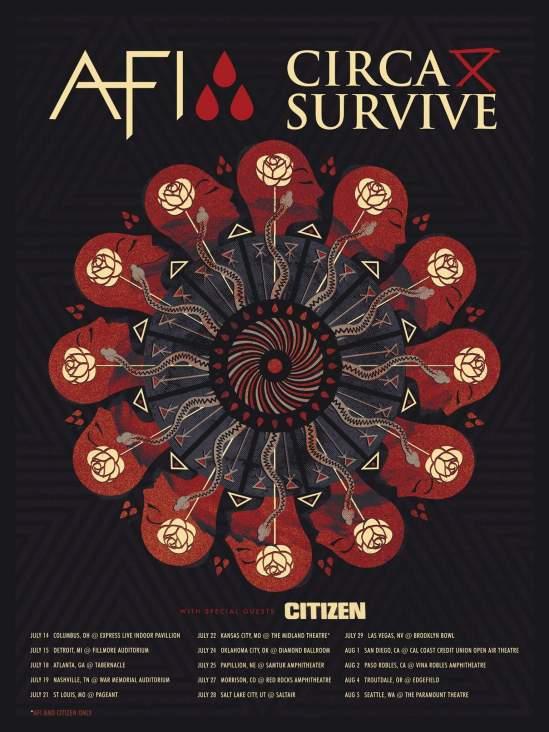 AFI CIRCA SURVIVE TOUR POSTER