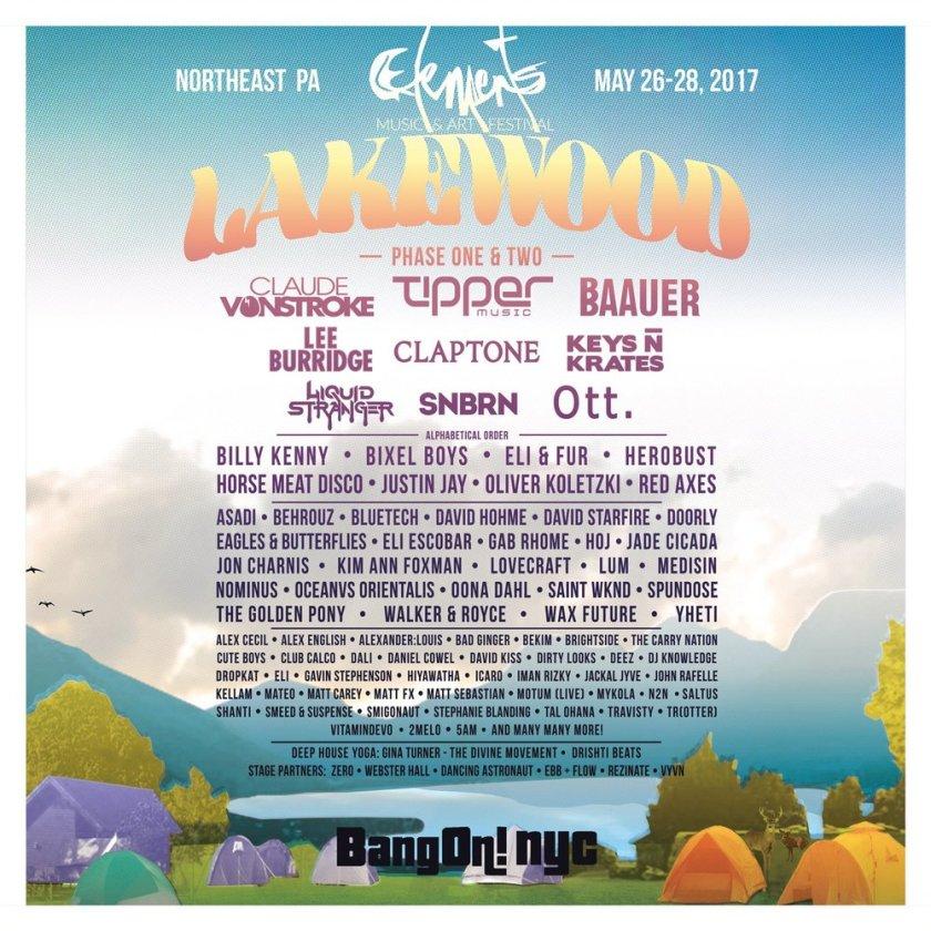 Element fest lineup!