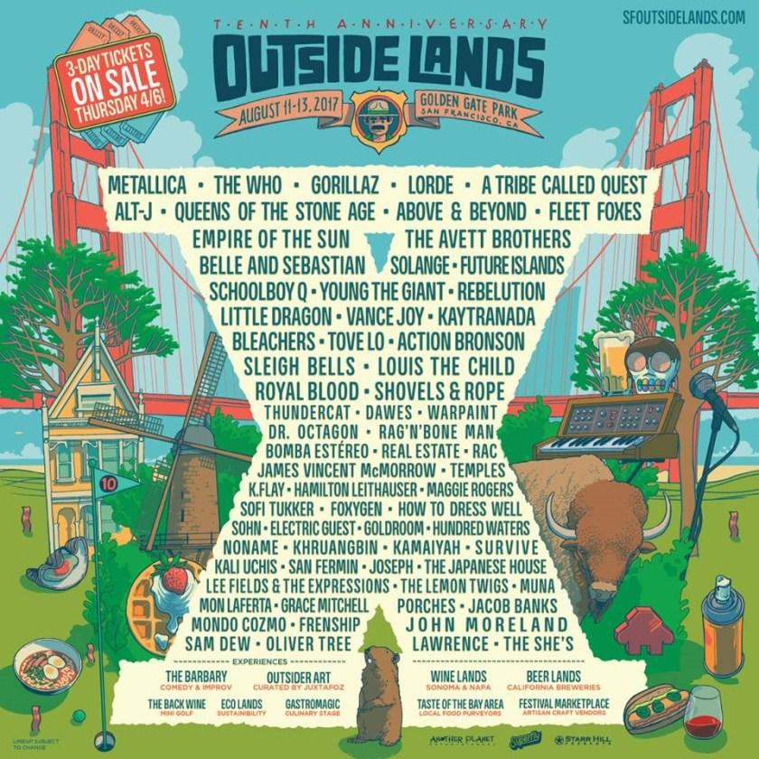 Outside Lands Lineup