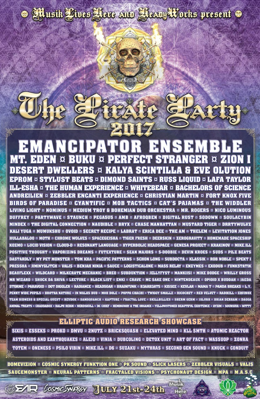 The Pirate Party 2017 lineup