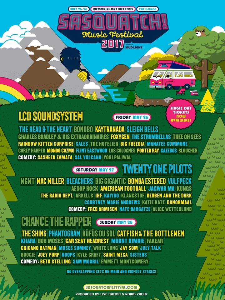 sasquatch new line up